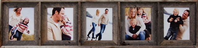 Collage Picture Frame 8x10 With 5 Openings, Barnwood rustic-frames