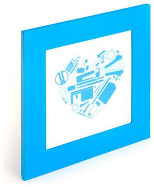 Square Frame, 4x4, Pool Blue modern-frames