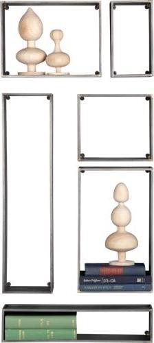 6-piece cubist modular wall shelf set modern-display-and-wall-shelves