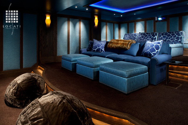 Whitefish Yacht Club Residence traditional-home-theater