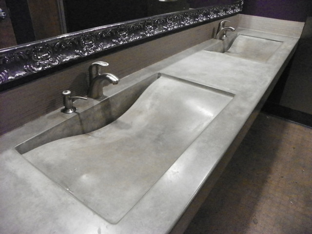 integral concrete sinks. Black Bedroom Furniture Sets. Home Design Ideas