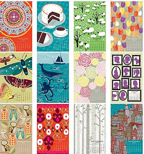 2012 Paper Source Wall Art Calendar Modern Home Decor By Paper Source