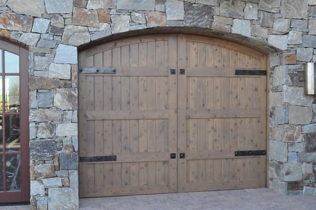 Forged Garage Door Hardware traditional-garage-doors