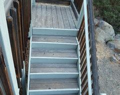 Cedar Deck Refinish traditional-staircase