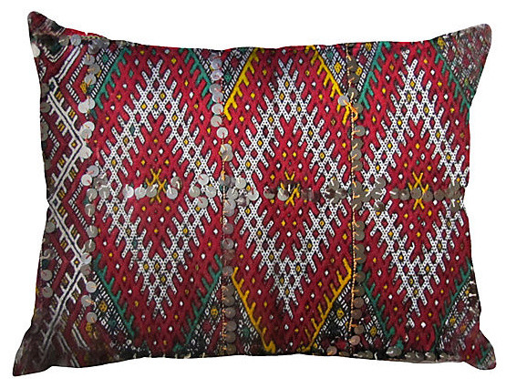 Consigned Berber Pillow Multicolor mediterranean-decorative-pillows
