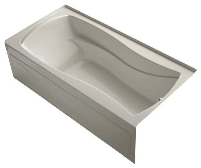 KOHLER Bathtubs Mariposa VibrAcoustic 6 ft. Right Drain Soaking Tub in Sandbar - Contemporary ...