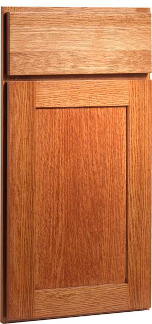 Rockford Carbon Oak Saddle Stained Wood Shaker Kitchen Cabinet Sample craftsman-kitchen-cabinetry