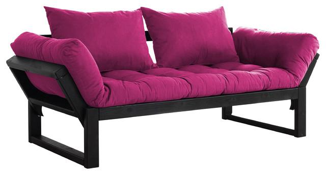Houseofauracom Pink Futon Mattress 4ft6 14cm Tufted