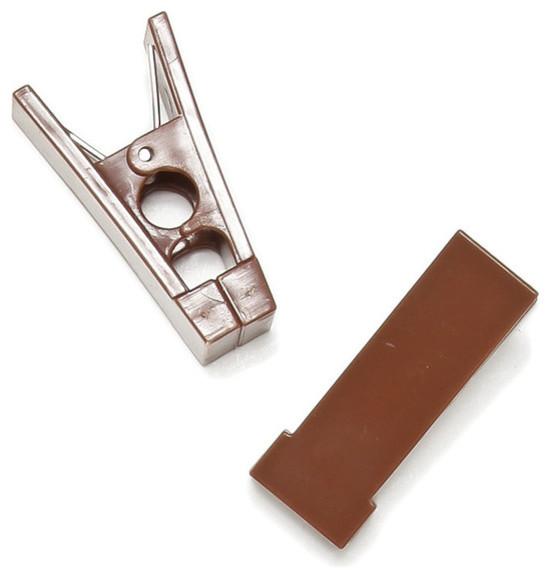 Hanger Bar Clips, Brown contemporary-wall-hooks