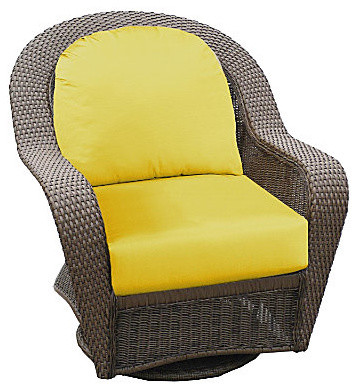 Winchester Swivel/Glider Chair Cocoa contemporary-rocking-chairs