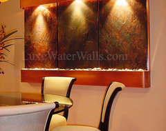 "80"" Wide Wall Fountains in Various Clients Homes contemporary-indoor-fountains"