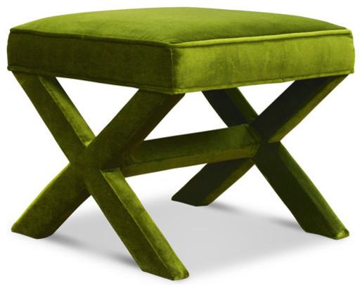 Jonathan Adler X-bench, Ireland Avocado modern-footstools-and-ottomans