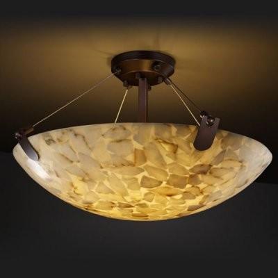 Justice Design Group Alabaster Rocks ALR-9611-35-DBRZ 18 in. Semi-Flush Bowl wit modern-ceiling-lighting