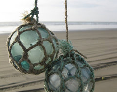 Japanese Glass Fishing Floats Original Nets By GlassFloatJunkie eclectic-home-decor