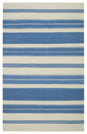 Jagges Stripe Faded Azul Rug modern-rugs