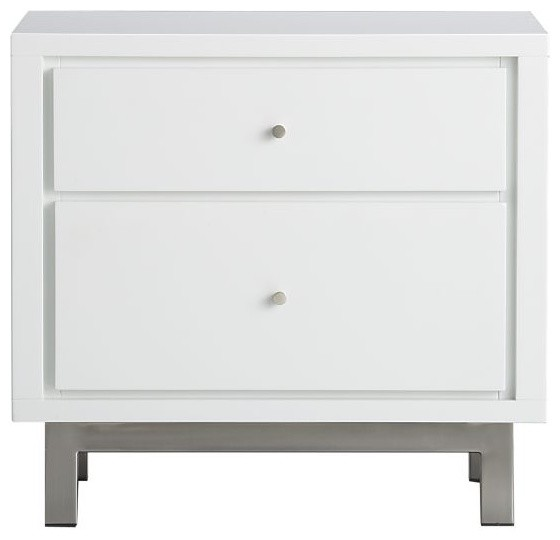 Cubix 2-Drawer Nightstand modern-nightstands-and-bedside-tables