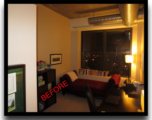 Before and Afters Home Office Redecorate eclectic