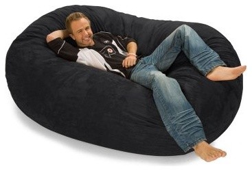 Relax Sack 6 ft. Microsuede Foam Bean Bag Lounger modern-indoor-chaise-lounge-chairs