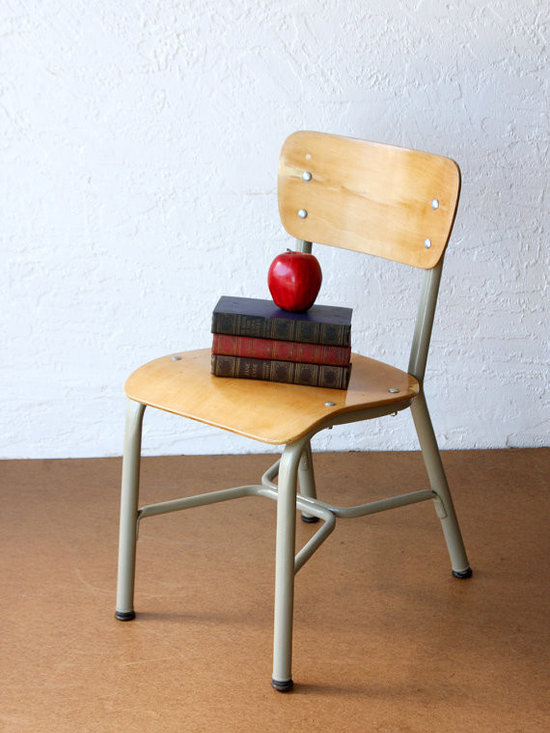 Vintage Child's School Chair by Vintage Avacado -