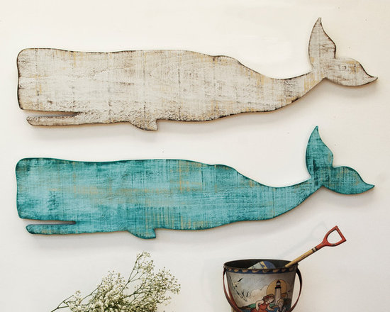 Wooden Whale Wall Plaque -