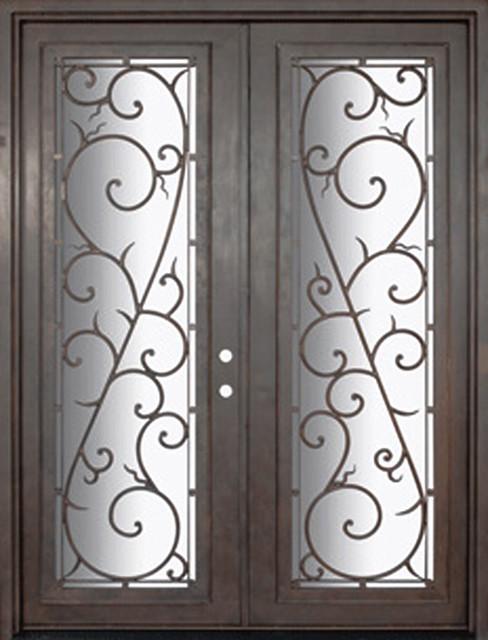Bellagio 72x96 wrought iron double door 14 gauge steel for 14 gauge steel door