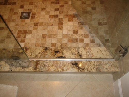 Semi Frameless Shower Leaks Curb Is Out Of Level And