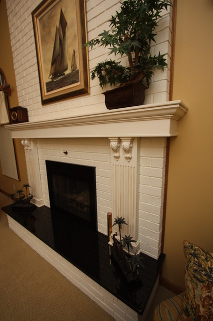 Granite Fireplace Hearth Traditional Indoor Fireplaces