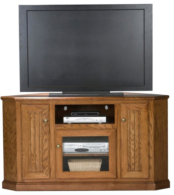 heritage tall corner tv stand w adjustable shelf light