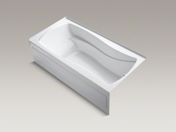 "KOHLER Mariposa(R) 72"" x 36"" alcove bath with integral apron, tile flange and ri contemporary-bathtubs"