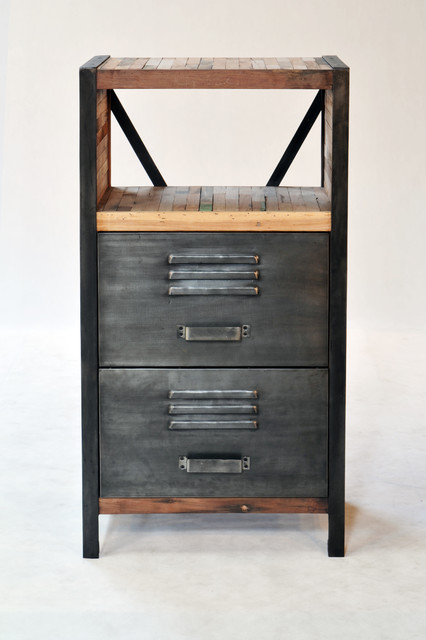 Industrial / Locker Room Style 2 Drawer, 2 Shelf Cabinet - Industrial - boise - by Impact Imports