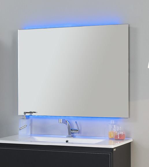 Led Frameless Mirror Chromatherapy 32 With Remote Control And Anti Fog System Contemporary