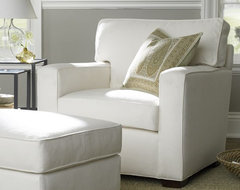 PB Square Upholstered Armchair contemporary armchairs