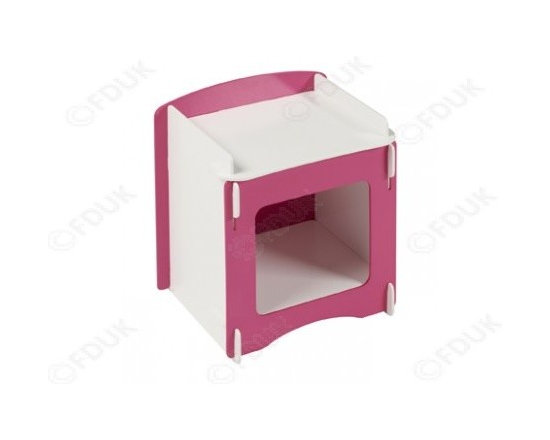 Decorative Home Furniture - Blush bedside is an ideal little storage unit for your little ones room. All slots together with no screws or glue to fix together. Buy this bed just at £24.99