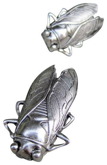 Cicada Drawer / Cabinet Knob, Silver - Eclectic - Cabinet And Drawer Knobs - by DaRosa Creations