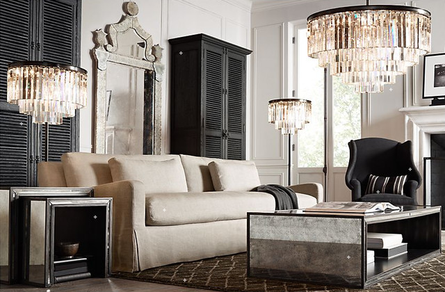 Traditional Living Room Restoration Hardware Contemporary