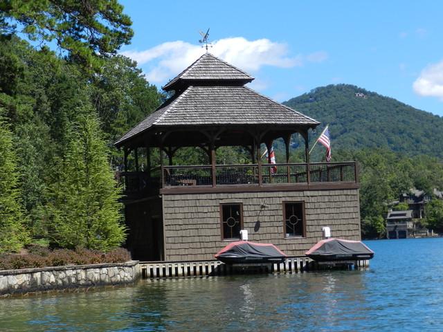 Custom Home Custom Boathouse Lake Burton