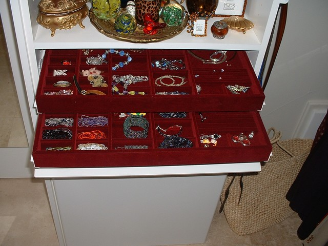 Double Jewelry Drawer with tilt-down front contemporary-jewelry-boxes-and-organizers