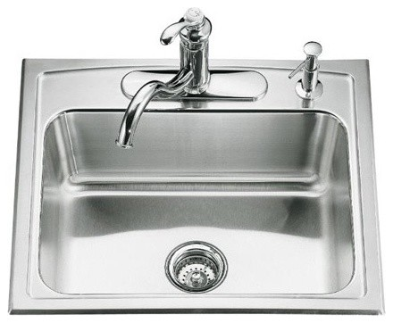 Toccata Single Basin Self Rimming Kitchen Sink modern-bath-products