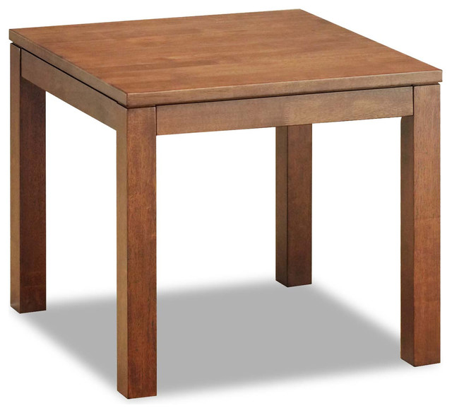 Juno Cocoa Wood End Table modern-coffee-tables