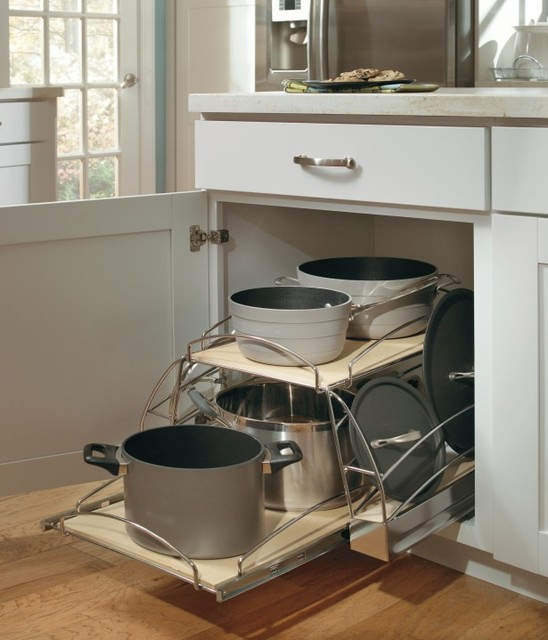 Aristokraft Base Pots and Pans Pullout - Kitchen Drawer Organizers - other metro - by ...