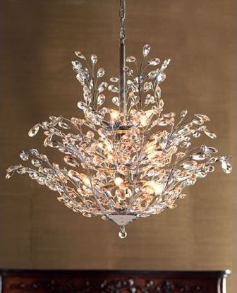 Upside Down Crystal Chandelier traditional chandeliers