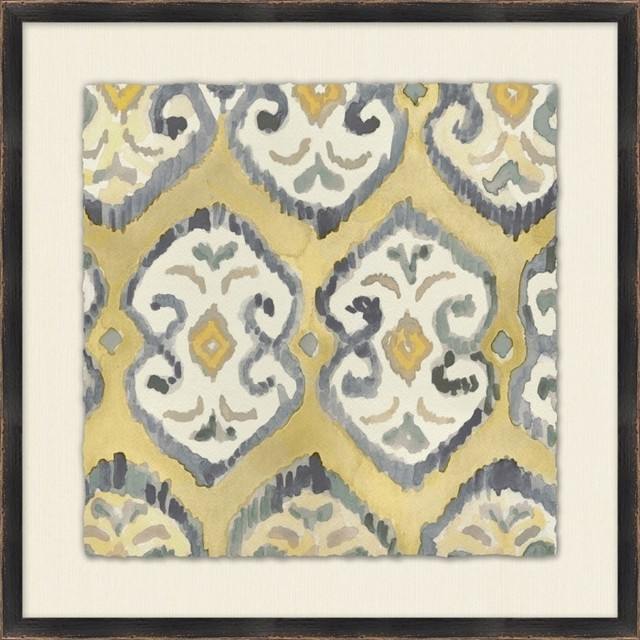 Neutral Ikat 8 eclectic-prints-and-posters
