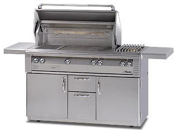 Alfresco 56'' Lx2 Grill On Cart, Stainless Steel Natural Gas   ALX256SZRFG-NG outdoor-grills