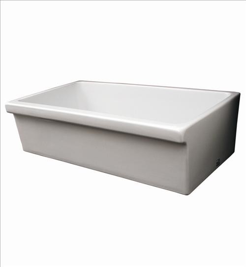 Large White Sink : Whitehaus Whq536-White Large Quatro Sink traditional-bathroom-sinks