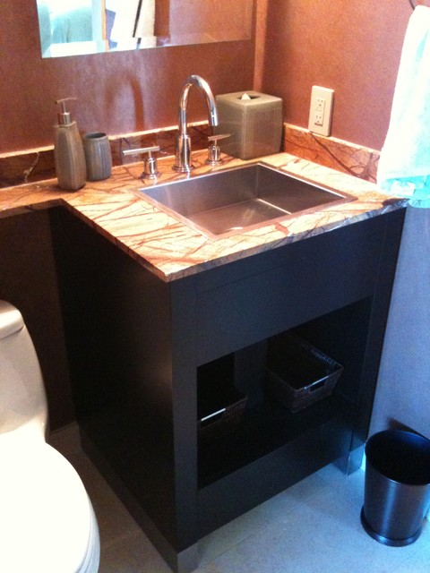 bathroom vanity - Modern - Powder Room - miami - by Morantz Custom Cabinetry Inc