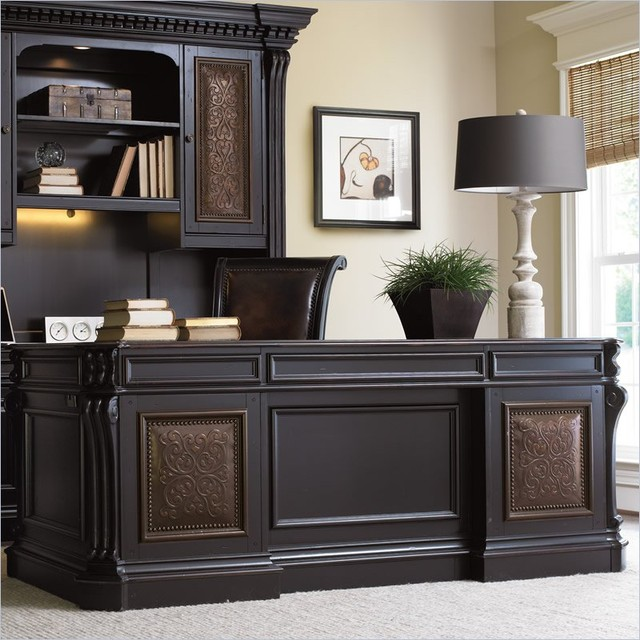 Hooker furniture telluride 76 executive desk with leather for Best home office furniture vancouver