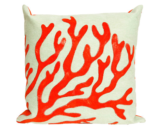 Liora Manne Red Coral Throw Pillow
