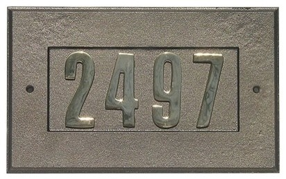 Manchester Cast Aluminum Address Plaque modern house numbers