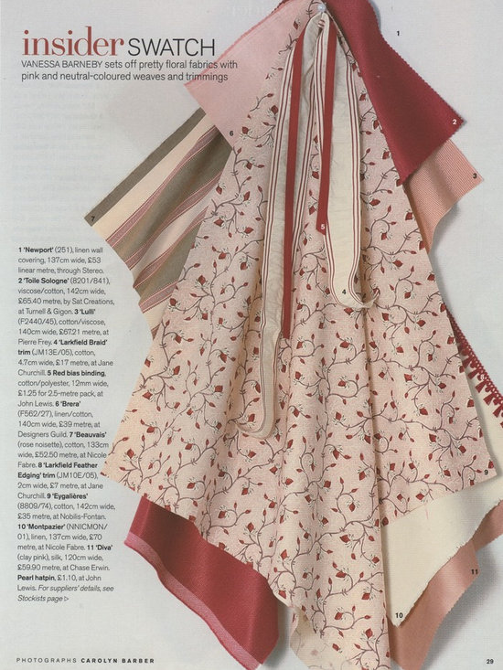 Nicole Fabre Designs - Nicole Fabre Designs, Hand loom woven and Hand Printed in France, Belgium and GB, inspired by 18-19 century French prints.