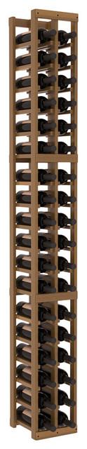 2 Column Standard Wine Cellar Kit in Redwood, Oak + Satin Finish contemporary-wine-racks